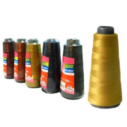 96 Units of Thread 1000 M. 6asst Dark Colors - Sewing Supplies