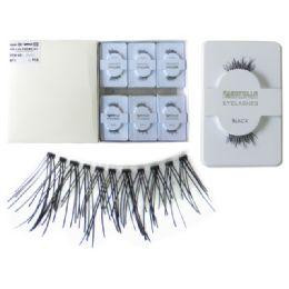 96 Units of Eyelashes 2 Piece. Clear Box & Pvc - Cosmetics