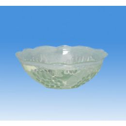 96 Units of Clear Plastic Round Bowl (rose - Plastic Bowls and Plates