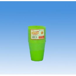 96 Units of 12pk SMALLTUMBLERS 3 ASST NEON COLORS - Plastic Drinkware