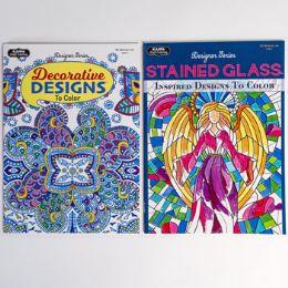 48 Units of Coloring Book Adult 2 Asst Random Designs - Coloring & Activity Books