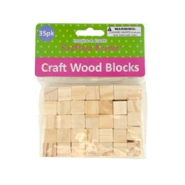72 Units of Natural Wooden Craft Blocks - Craft Wood Sticks and Dowels