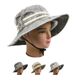 24 Units of MEN SUMMER HAT IN ASSORTED COLOR - Sun Hats