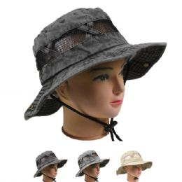 24 Units of Mens Summer Hat In Assorted Color - Sun Hats