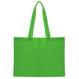 96 Units of Eco Friendly Large Shopping Tote In Green - Tote Bags & Slings