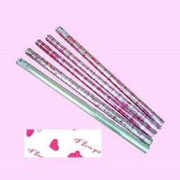 """12 Units of Valentines Cellophane Wrapping Paper 30"""" X 100' - Gift Wrap"""