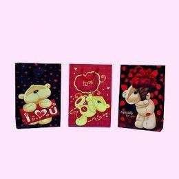 "12 Units of VALENTINES GIFT BAG 10"" X 7"" X 2.75"" - Valentines"