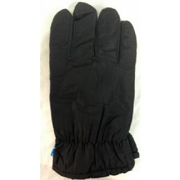 24 Units of Winter Black Ski Glove With Inside Lining And AntI-Slip Grip - Ski Gloves