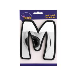 144 Units of Letter M Peel & Stick Mirror Wall Decor - Home Decor