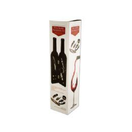 6 Units of Wine Bottle Accessory Kit in Bottle-Shaped Case - Drinking Water Bottle
