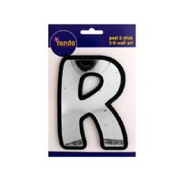144 Units of Letter R Peel & Stick Mirror Wall Decor - Home Decor
