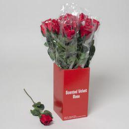 36 Units of Rose Velvet Scented - Valentine Decorations