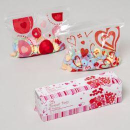 96 Units of Sandwich Bag Valentine Print - Valentine Gift Bag's