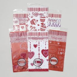 72 Units of Tablecover Valentine - Valentine Decorations