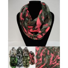 12 Units of Light Weight Infinity Scarf [camo] - Winter Scarves