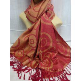 36 Units of Winter Fashion Pashminas Multi Colored Swirls - Winter Pashminas and Ponchos