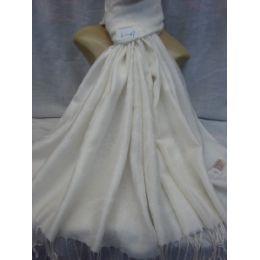 36 Units of Winter Fashion Pashminas Multi Colored Swirls In White - Winter Pashminas and Ponchos