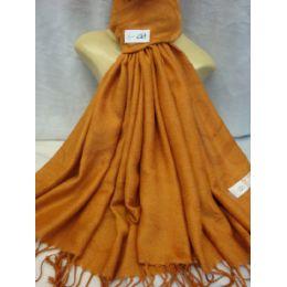 36 Units of Winter Fashion Pashminas Multi Colored Swirls In Orange - Winter Pashminas and Ponchos