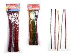 96 Units of 50 Piece Craft Glitter Stems - Craft Stems