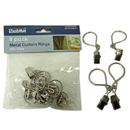 144 Units of 8 Piece Metal Curtain Rings - Window Curtains