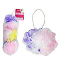 96 Units of 3pc Scrubber Balls - Loofahs & Scrubbers