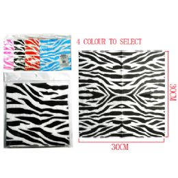 144 Units of 20 Piece Zebra Print Napkins - Napkin and Paper Towel Holders