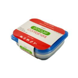 36 Units of Small Rectangular Food Storage Container Set - Storage Holders and Organizers