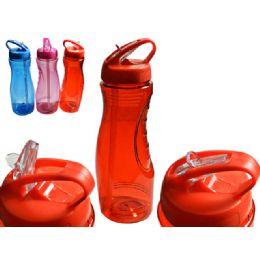 48 Units of SPORT WATER BOTTLE 800ML 3ASST - Plastic Drinkware
