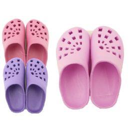 72 Units of Girls Garden Clogs Size: 30-35 - Women's Slippers