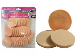 96 Units of 25 Piece Cosmetic Round Sponge - Personal Care Items