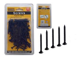 "96 Units of 62 Piece Black 1.5"" Screw - Drills and Bits"