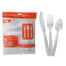 24 Units of 48pc Clear Cutlery - Disposable Cutlery