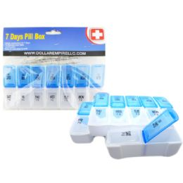 144 Units of 2 Layer 7 Day Pill Box - Pill Boxes and Accesories