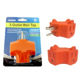 96 Units of 3 Plug Outlet Adapter - Chargers & Adapters