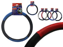 48 Units of 2-Tone Steering Wheel Cover - Auto Steering Wheel Cover