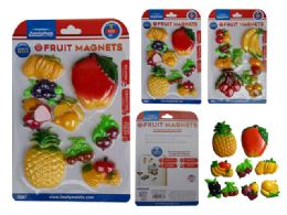 96 Units of 8 Piece Fruit Magnets - Refrigerator Magnets