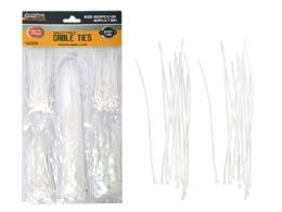 144 Units of 250pc White Cable tie - Wires