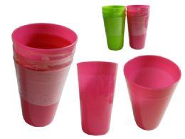 96 Units of 3 Piece Tumbler - Plastic Drinkware
