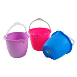48 Units of Assorted Color Buckets - Buckets & Basins