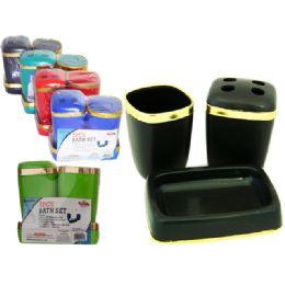 48 Units of 3 Piece Bathroom Set - Bathroom Accessories