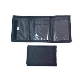 72 Units of Trifold Black Velcro Wallet - Wallets & Handbags