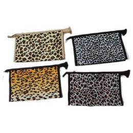 96 Units of Assorted Color Animal Print Cosmetic Bag - Cosmetic Cases