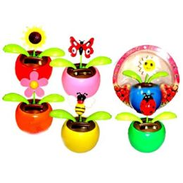 48 Units of SOLAR POWER DANCING FLOWER WITH BUGS - Garden Decor