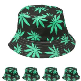 24 Units of Unisex Printed Marjuana Bucket Hat - Bucket Hats