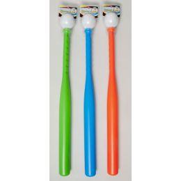 36 Units of Baseball & Bat Set Plastic 24in Bat/3ast Colors Clam Pack 36pc Case Cut Display - Summer Toys