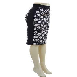 12 Units of Plus Side Panel Pencil Skirt Daisy - Womens Skirts