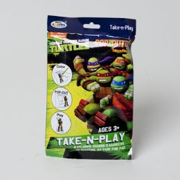 72 Units of Take N Play Teenage Ninja Turtles Coloring Boards,markers,stickers And Fun Pad - Coloring & Activity Books