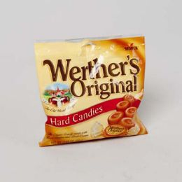 72 Units of Werther's Original Caramel Hard Candies 2.65 Oz Peg Bag - Food & Beverage