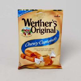 72 Units of Werther's Original Chewy Caramel 2.4 Oz Peg Bag - Food & Beverage