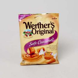 72 Units of Werther's Original Soft Caramel 2.2 Oz Peg Bag - Food & Beverage